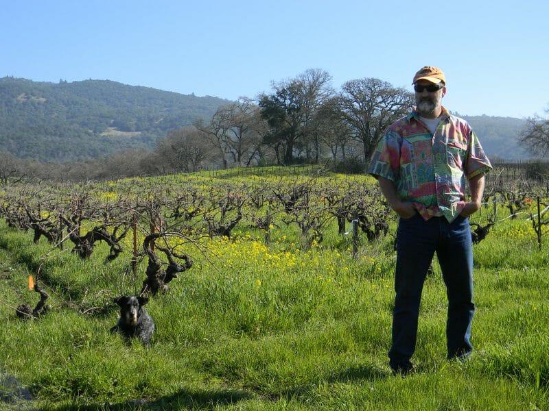 Will Bucklin in Old Hill Ranch Vineyard