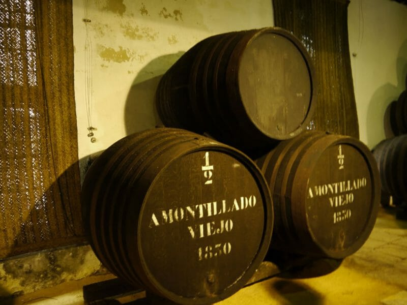 The two-barrel solera of Amontillado started in 1830