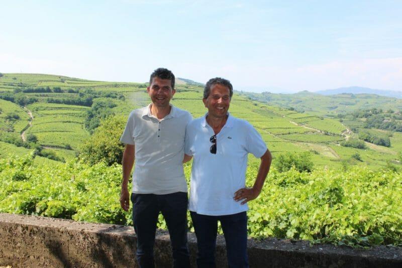 Claudio and Sandro Gini in Salvarenza Vineyard