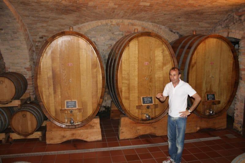 Giorgio Conterno in the cantina