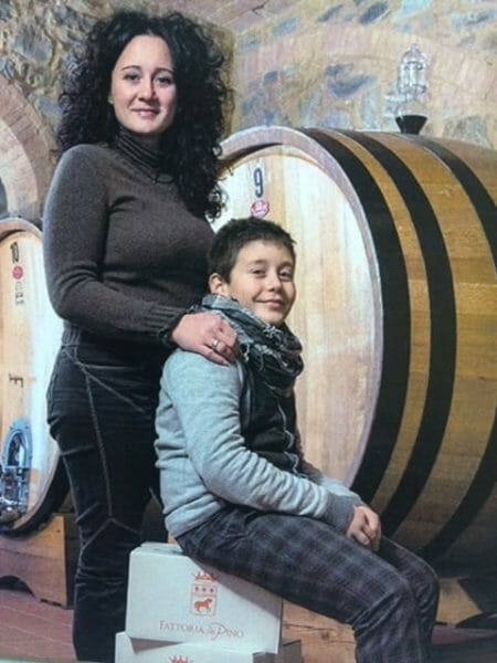 Jessica Pelligrini and son in the cantina